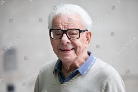 Barry Cryer arriving at BBC Broadcasting House