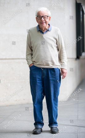 Stock Picture of Barry Cryer arriving at BBC Broadcasting House this morning.