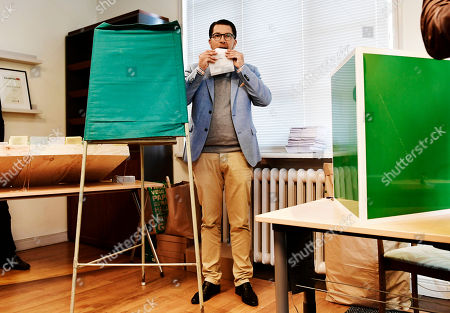 Jimmie Akesson, leader of the right-wing nationalist Sweden Democrats (SD) party, seals his ballot at a polling station in the Stockholm City Hall, in Stockholm, Sweden 09 September 2018. About 7.5 million Swedes are eligible to vote in the country?s general elections on 09 September that are expected to see huge gains for the far-right Sweden Democrats (SD) party and losses for the ruling coalition of Social Democrtas and the Green party. The previous election campaign has been dominated by a controversial debate over the country?s immigration policy.