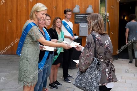 Ebba Busch Thor (L), the leader of the Swedish Christian Democrats, campaign for her party outside a polling station in central Stockholm, Sweden, 09 September 2018. Others are not identified. About 7.5 million Swedes are eligible to vote in the country?s general elections on 09 September that are expected to see huge gains for the far-right Sweden Democrats (SD) party and losses for the ruling coalition of Social Democrtas and the Green party. The previous election campaign has been dominated by a controversial debate over the country?s immigration policy.