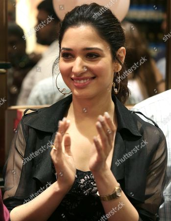 Indian Bollywood actress Tamannaah Bhatia arrives to inaugurate the first Ayurvedic Therapy Store by LEVER Ayush during a promotional event in Bangalore, India 09 September 2018.