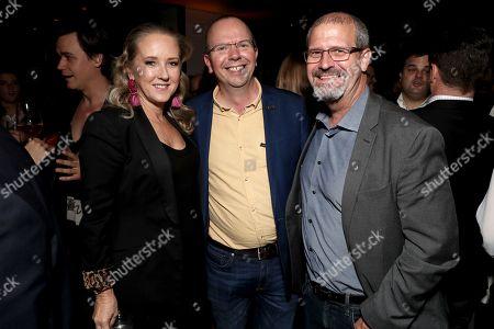 Stock Image of Amazon Studios Head Jennifer Salke, IMDb CEO Col Needham, Keith Simonton