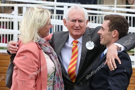 The connections of FRANCIS XAVIER after the horse wins The Hanson Springs Stakes over 1m 2f (£19,000) during the Newby and the Press Family Raceday at York Racecourse, York. Picture by Mick Atkins