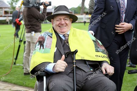 The thumbs up from REG BOND the Owner and Breeder of LADIES FIRST winner of The Eventmasters.co.uk Apprentice Handicap Stakes over 7f (£17,000)  during the Newby and the Press Family Raceday at York Racecourse, York. Picture by Mick Atkins