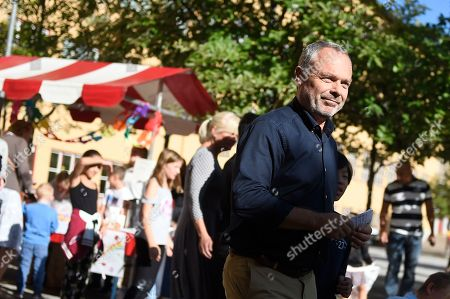 Jan Bjorklund, leader of the Sweddish Liberal Party, arrives to cast his ballot in the general elections at a polling place set up in the Norra Angby school in Stockholm, Sweden, 09 September 2018.About 7.5 million Swedes are eligible to vote in the country?s general elections on 09 September that are expected to see huge gains for the far-right Sweden Democrats (SD) party and losses for the ruling coalition of Social Democrtas and the Green party. The previous election campaign has been dominated by a controversial debate over the country?s immigration policy.