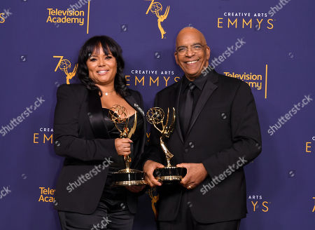 Stock Photo of Rikki Hughes and Stan Lathan w - Outstanding Variety Special (pre-recorded) - 'Dave Chappelle: Equanimity'