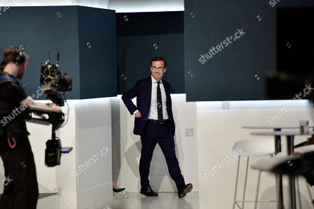 The Moderaterna party leader Ulf Kristersson arrives to the tv-channel Swedish Television in Stockholm, Sweden 09 September 2018.