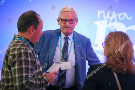Stock Image of Former Swedish Prime Minister and Foreign Minister Carl Bildt at the election party of the Moderate Party in Stockholm, Sweden, 09 September 2018.