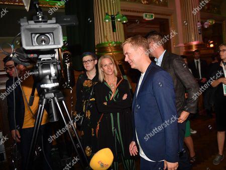 Miljopartiet spokesperson Gustav Fridolin at the election evening at restaurant  Nalen in central Stockholm, Sweden 09 September 2018.