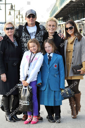 Julian Mcmahon and Family Including Mother Sonia and Girlfriend Kelly Paniagua