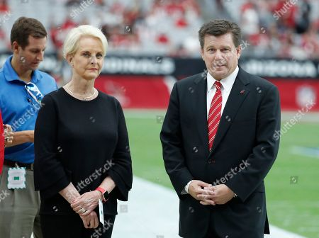 Cindy McCain during an NFL football game between the Washington Redskins and the Arizona Cardinals, in Glendale, Ariz
