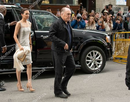 Stock Image of US actor and cast member Robert Duvall (R) and his wife Luciana Pedraza arrive for the press conference for the movie 'Widows' during the 43rd annual Toronto International Film Festival (TIFF) in Toronto, Canada, 09 September 2018.