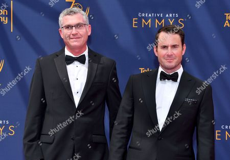 David Eilenberg, David George. David Eilenberg, left, and David George arrive at night two of the Television Academy's 2018 Creative Arts Emmy Awards at the Microsoft Theater, in Los Angeles
