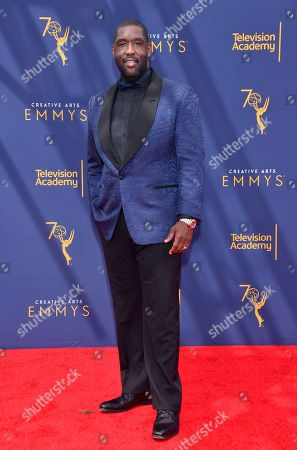 Adam Blackstone arrives at night two of the Television Academy's 2018 Creative Arts Emmy Awards at the Microsoft Theater, in Los Angeles
