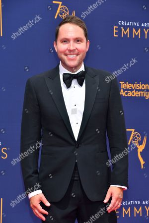 Rob Crabbe arrives at night two of the Television Academy's 2018 Creative Arts Emmy Awards at the Microsoft Theater, in Los Angeles