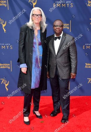 Yance Ford, Joslyn Barnes. Joslyn Barnes, left, and Yance Ford arrive at night two of the Television Academy's 2018 Creative Arts Emmy Awards at the Microsoft Theater, in Los Angeles