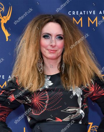 Erin Gibson arrives at night two of the Television Academy's 2018 Creative Arts Emmy Awards at the Microsoft Theater, in Los Angeles