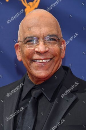 Stan Lathan arrives at night two of the Television Academy's 2018 Creative Arts Emmy Awards at the Microsoft Theater, in Los Angeles