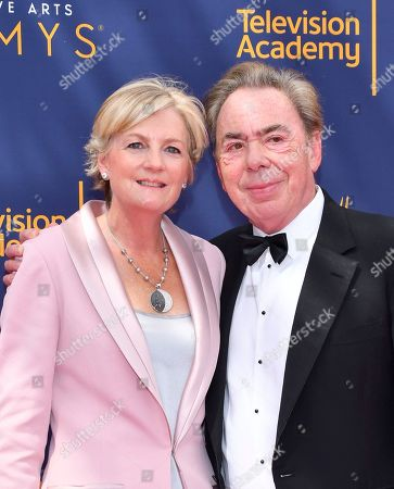Madeleine Gurdon, Andrew Lloyd Webber. Madeleine Gurdon, left, and Andrew Lloyd Webber arrive at night two of the Television Academy's 2018 Creative Arts Emmy Awards at the Microsoft Theater, in Los Angeles