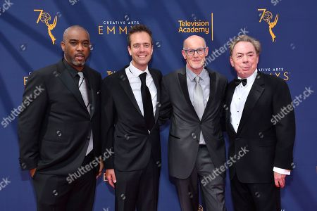 Mike Jackson, Alex Rudeinski, Neil Meron, Andrew Lloyd Webber. Mike Jackson, from left, Alex Rudeinski, Neil Meron, and Andrew Lloyd Webber arrive at night two of the Television Academy's 2018 Creative Arts Emmy Awards at the Microsoft Theater, in Los Angeles