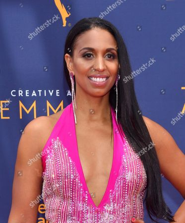 Chloe Arnold arrives at night two of the Television Academy's 2018 Creative Arts Emmy Awards at the Microsoft Theater, in Los Angeles