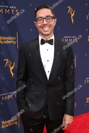 James Pearse Connelly arrives at night two of the Television Academy's 2018 Creative Arts Emmy Awards at the Microsoft Theater, in Los Angeles