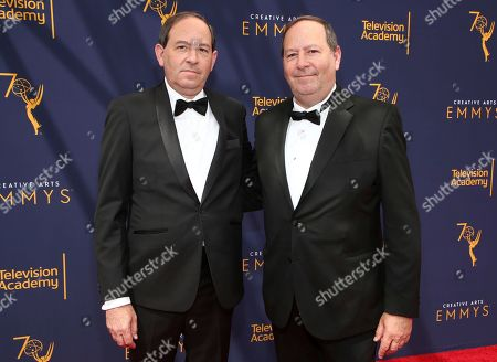 Dan Braun, Josh Braun. Dan Braun, left, and Josh Braun arrive at night two of the Television Academy's 2018 Creative Arts Emmy Awards at the Microsoft Theater, in Los Angeles