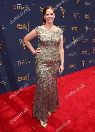 Alison Camillo arrives at night two of the Television Academy's 2018 Creative Arts Emmy Awards at the Microsoft Theater, in Los Angeles
