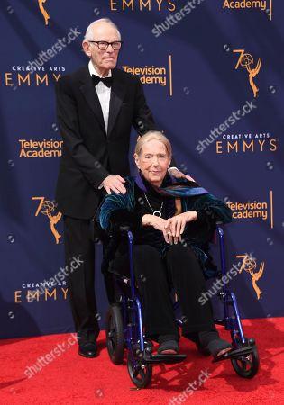 Alan Bergman, Marilyn Bergmen. Alan Bergman, left, and Marilyn Bergman arrive at night two of the Creative Arts Emmy Awards at The Microsoft Theater, in Los Angeles