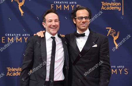 Bryan Fogel, Dan Cogan. Bryan Fogel, left, and Dan Cogan arrive at night two of the Creative Arts Emmy Awards at The Microsoft Theater, in Los Angeles