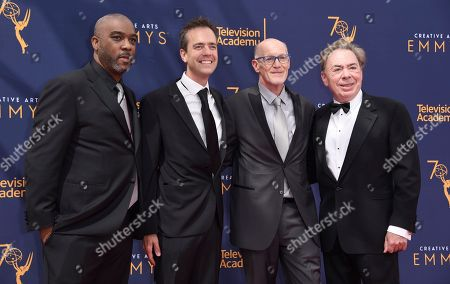 Mike Jackson, Alex Rudzinski, Neil Meron, Andrew Lloyd Webber. Mike Jackson, from left, Alex Rudzinski, Neil Meron, and Andrew Lloyd Webber arrive at night two of the Creative Arts Emmy Awards at The Microsoft Theater, in Los Angeles