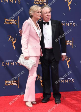 Madeleine Gurdon, Andrew Lloyd Webber. Madeleine Gurdon, left, and Andrew Lloyd Webber arrive at night two of the Creative Arts Emmy Awards at The Microsoft Theater, in Los Angeles
