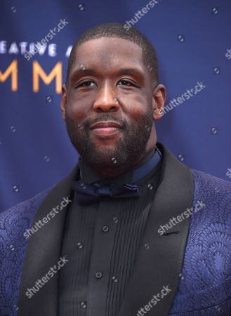 Stock Photo of Adam Blackstone arrives at night two of the Creative Arts Emmy Awards at The Microsoft Theater, in Los Angeles