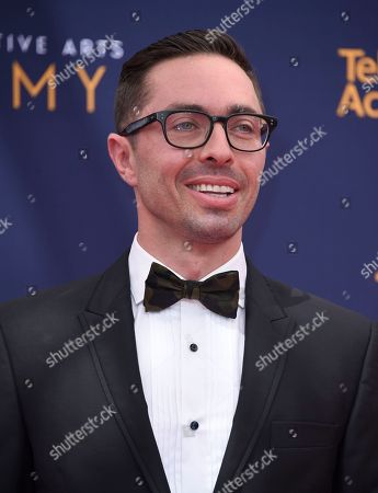 James Pearse Connelly arrives at night two of the Creative Arts Emmy Awards at The Microsoft Theater, in Los Angeles