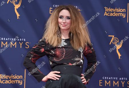 Stock Picture of Erin Gibson arrives at night two of the Creative Arts Emmy Awards at The Microsoft Theater, in Los Angeles
