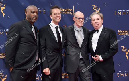 Mike Jackson, Alex Rudzinski, Neil Meron, Andrew Lloyd Webber. Mike Jackson, left, Alex Rudzinski, Neil Meron, and Andrew Lloyd Webber arrive at night two of the Creative Arts Emmy Awards at The Microsoft Theater, in Los Angeles