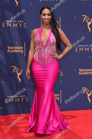 Chloe Arnold arrives at night two of the Creative Arts Emmy Awards at The Microsoft Theater, in Los Angeles
