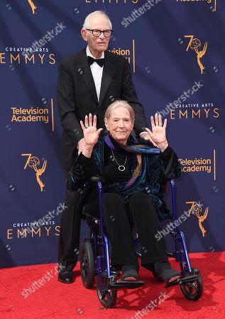 Alan Bergman, Marilyn Bergman. Alan Bergman, left, and Marilyn Bergman arrive at night two of the Creative Arts Emmy Awards at The Microsoft Theater, in Los Angeles