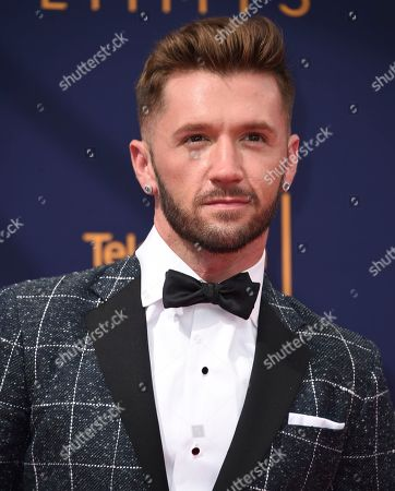 Travis Wall arrives at night two of the Creative Arts Emmy Awards at The Microsoft Theater, in Los Angeles