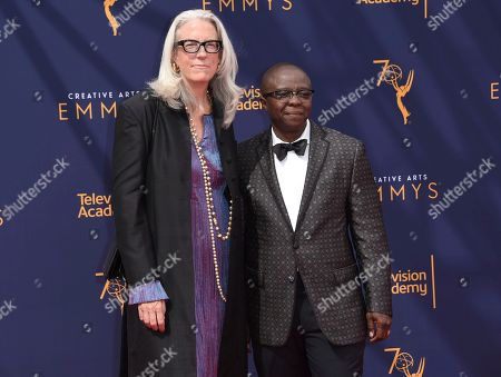Joslyn Barnes, Yance Ford. Joslyn Barnes, left, and Yance Ford arrives at night two of the Creative Arts Emmy Awards at The Microsoft Theater, in Los Angeles