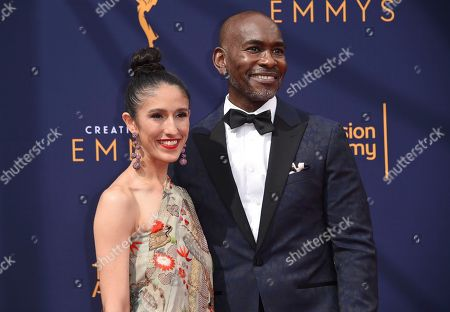 Laaleh Mizani, Paul Tazewell. Laaleh Mizani, left, and Paul Tazewell arrives at night two of the Creative Arts Emmy Awards at The Microsoft Theater, in Los Angeles