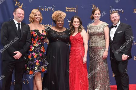 Pat King, Allana Harkin, Ashley Black, Melinda Taub, Alison Camillo, Miles Kahn. Pat King, left, Allana Harkin, Ashley Black, Melinda Taub, Alison Camillo, and Miles Kahn arrive at night two of the Creative Arts Emmy Awards at The Microsoft Theater, in Los Angeles