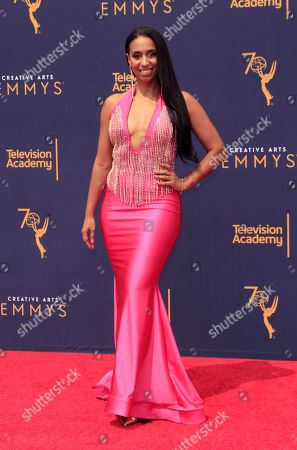 Chloe Arnold arrives for the 2018 Creative Arts Emmy Awards at the Microsoft Theater in Los Angeles, California, USA, 09 September 2018. The Creative Arts Emmy Awards honor excellence in Television technical categories such as makeup, casting direction, costume design, editing and cinematography. The 70th Primetime Emmy Awards Ceremony will take place on 17 September 2018.