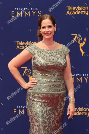 Alison Camillo arrives for the 2018 Creative Arts Emmy Awards at the Microsoft Theater in Los Angeles, California, USA, 09 September 2018. The Creative Arts Emmy Awards honor excellence in Television technical categories such as makeup, casting direction, costume design, editing and cinematography. The 70th Primetime Emmy Awards Ceremony will take place on 17 September 2018.