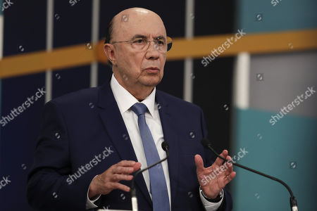 Former Minister of Finance Henrique Meirelles, candidate for the Brazilian Democratic Movement (MDB), participates in the televised presidential debate organized by television Gazeta and the newspaper O Estado de Sao Paulo, in Sao Paulo, Brazil, 09 September 2018.