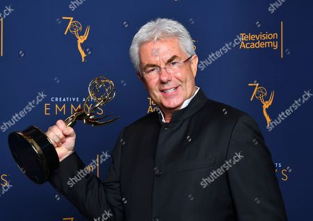"""Gregg Field, winner of the award for outstanding music direction for """"Tony Bennett: The Library of Congress Gershwin Prize for Popular Song"""" poses for a portrait during night two of the Television Academy's 2018 Creative Arts Emmy Awards at the Microsoft Theater, in Los Angeles"""