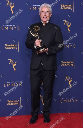 """Gregg Field winner of the award for outstanding music direction for """"Tony Bennett: The Library of Congress Gershwin Prize for Popular Song"""" poses in the press room during night two of the Creative Arts Emmy Awards at The Microsoft Theater, in Los Angeles"""