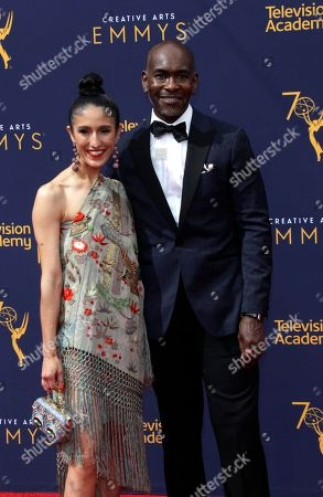 US designers Laaleh Mizani (L) and Paul Tazewell (R) arrive for the 2018 Creative Arts Emmy Awards at the Microsoft Theater in Los Angeles, California, USA, 09 September 2018. The Creative Arts Emmy Awards honor excellence in Television technical categories such as makeup, casting direction, costume design, editing and cinematography. The 70th Primetime Emmy Awards Ceremony will take place on 17 September 2018.