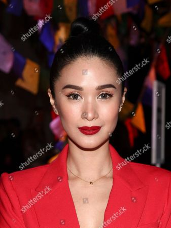 Heart Evangelista attends the NYFW Spring/Summer 2019 Prabal Gurung fashion show at Spring Studios, in New York