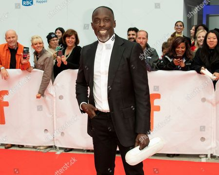 Stock Photo of US actor and cast member Michael Kenneth Williams arrives for the screening of the movie 'The Public' during the 43rd annual Toronto International Film Festival (TIFF) in Toronto, Canada, 09 September 2018.
